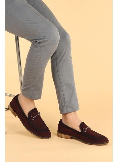 Ayakland Ayakland 2300 Süet Günlük Erkek Klasik Ayakkabı Bordo